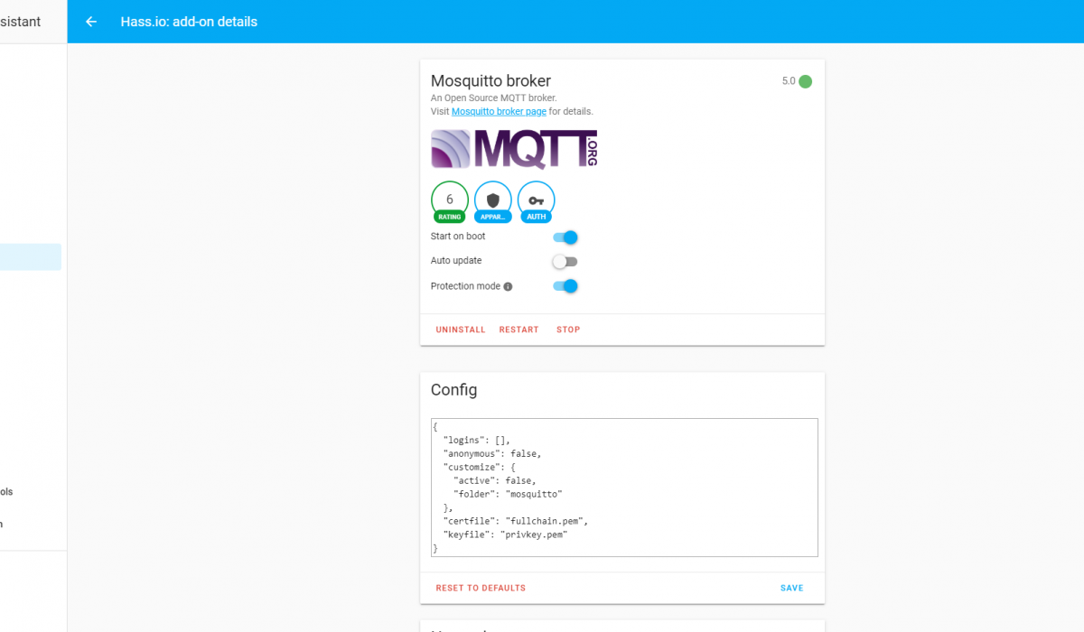 Home Assistant - MQTT - Mosquitto broker + Tasmota